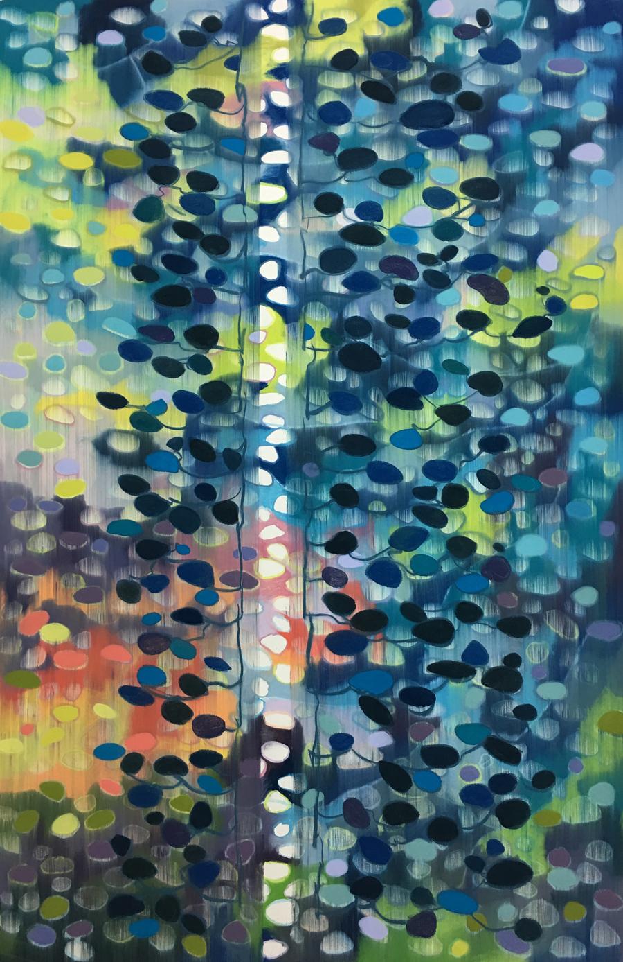 Silver Seam / Pastel on paper / 152cm x 102cm / 2018