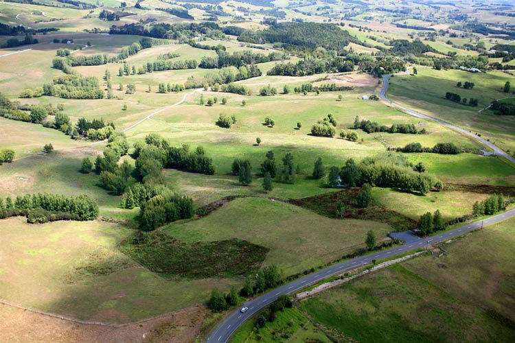 Recent aerial photo of the family farm in Kaiwaka