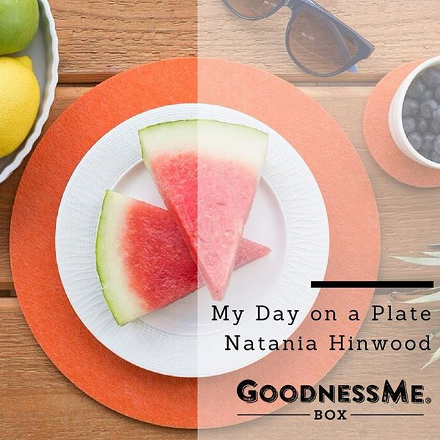 "Totally delighted to be featured in the @goodnessmebox ""My Day on a Plate"" series. Read the full story on the blog. Link in bio 👆🏼Nx"