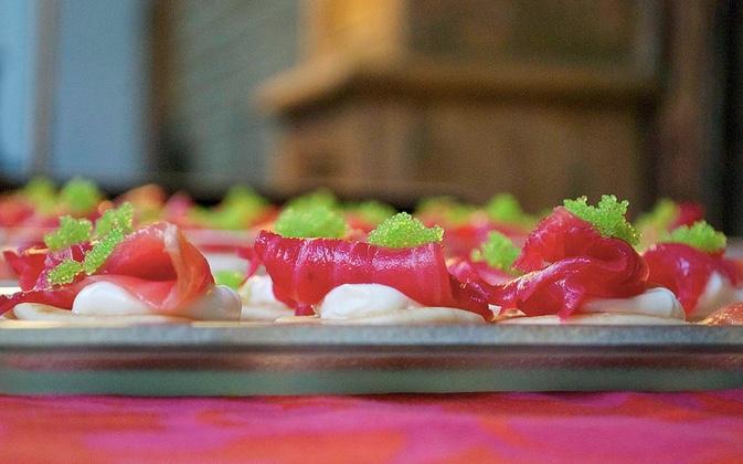 Ham Caviar canape Penelope Evans catering.jpg