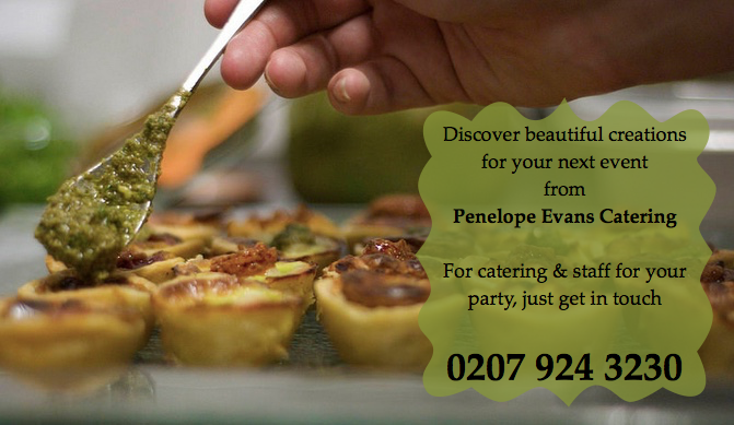 Penelope Evans Catering types of events