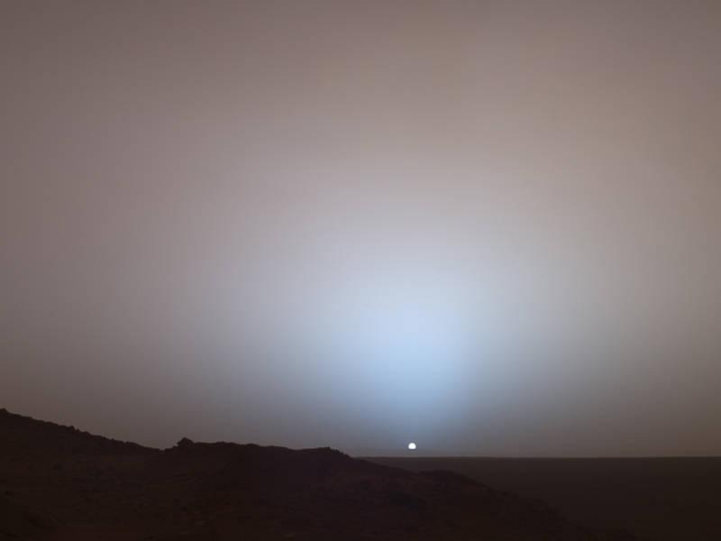 """Nasa, 19 Maja, 2005, łazik marsjański """"Spirit"""", 489 Sol."""