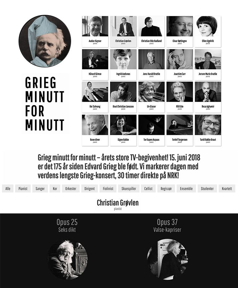 GRIEG MINUTT FOR MINUTT – ÅRETS STORE TV-BEGIVENHET!