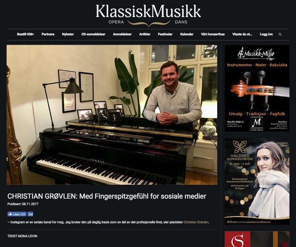 Kassiskmusikk.com: Med Fingerspitzgefühl for sosiale medier