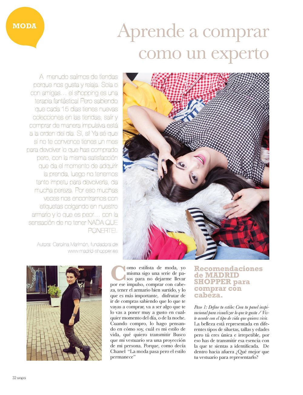 Wapa Magazine 50 – HOW TO BE A FASHION-SHOPPING EXPERT IN 4 STEPS   (Fall 2015)