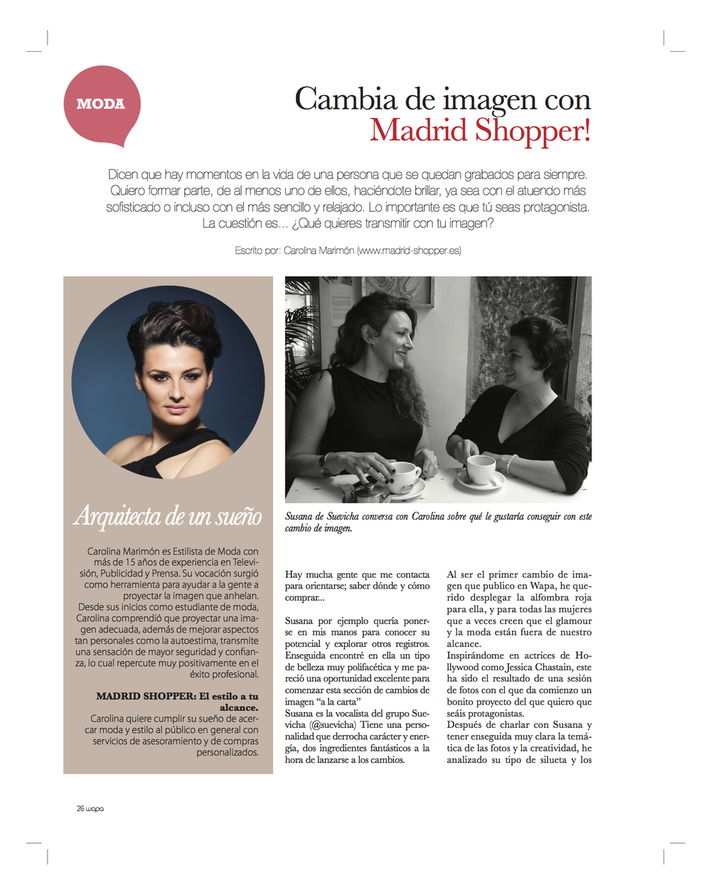 Wapa Magazine 53 – CHANGE YOUR IMAGE WITH MADRID SHOPPER   (Summer 2016)