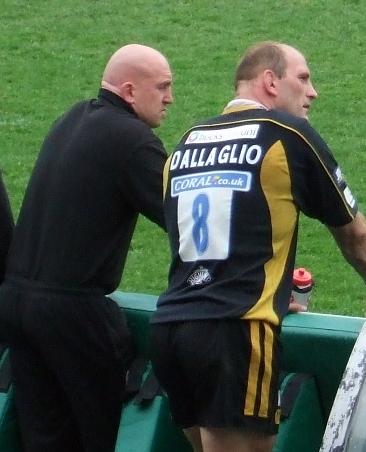 Dallaglio and Shaun watch the end of the game