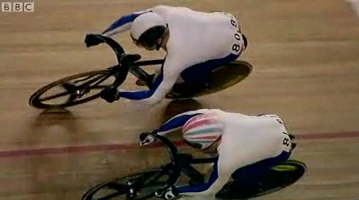 Chris Hoy and Jason Kenny contend the final