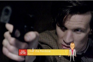 The Beeb put a bright yellow animated Graham Norton over the Dr Who finale