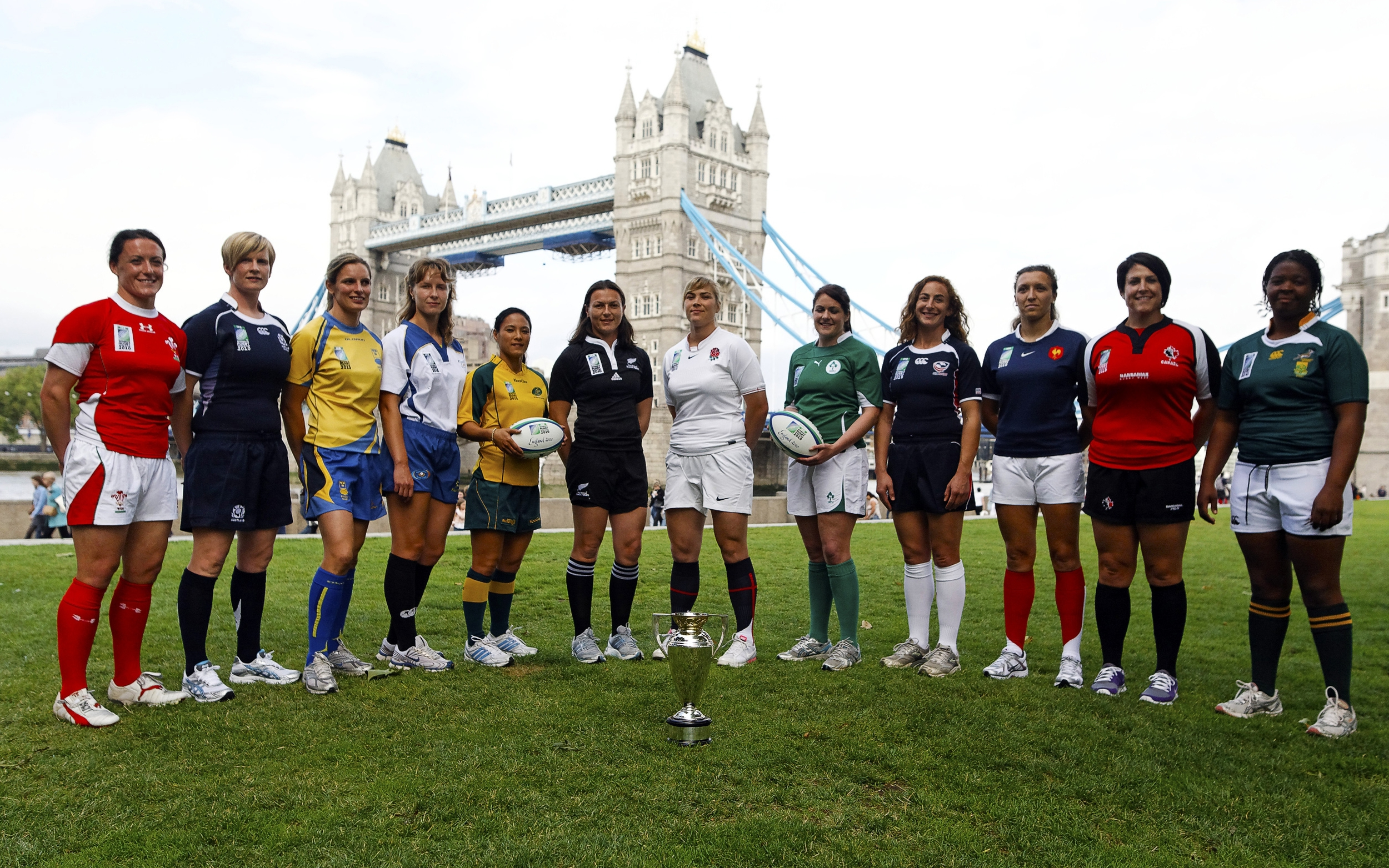Launch Photo for the Women's Rugby World Cup