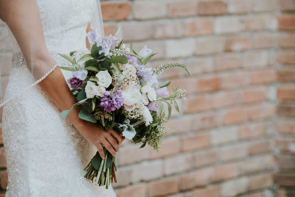 lavender and gray garden wedding in houston destination
