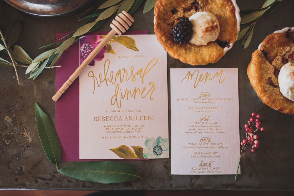 In LOVE with this beautiful invitation and menu suite from Caitlin Candelari!