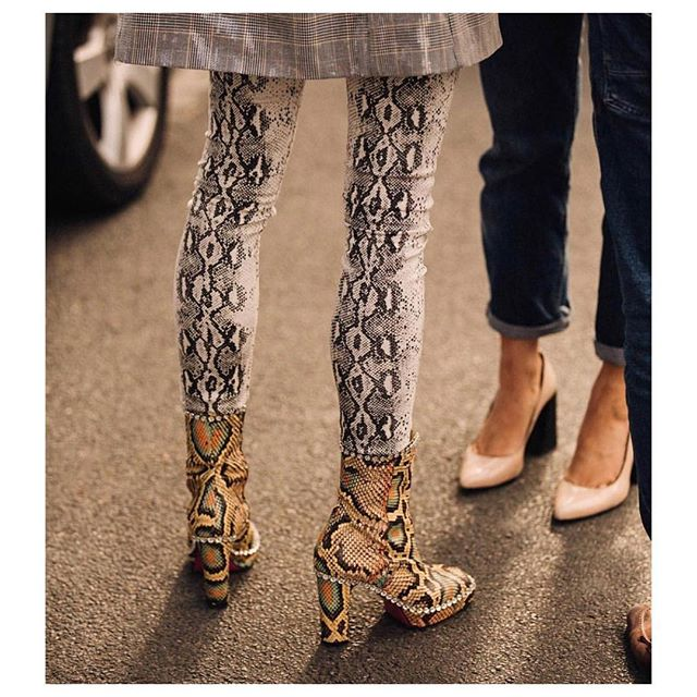 Here is a little gem caught by @garconjon and posted by @fashioninpills from #PFW Thank you! Snake on snake felt aggressive, but turned out ok! 🐍
