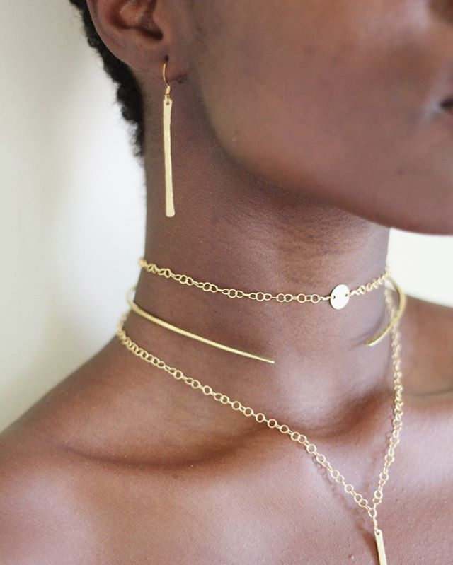 Handmade in Haiti 🇭🇹 ~ The Valencia Earring + Fira Choker Chain (adjustable), Nehemie Neck Cuff and Valencia Necklace (adjustable) ~ available on www.haitisjewels.com ✨