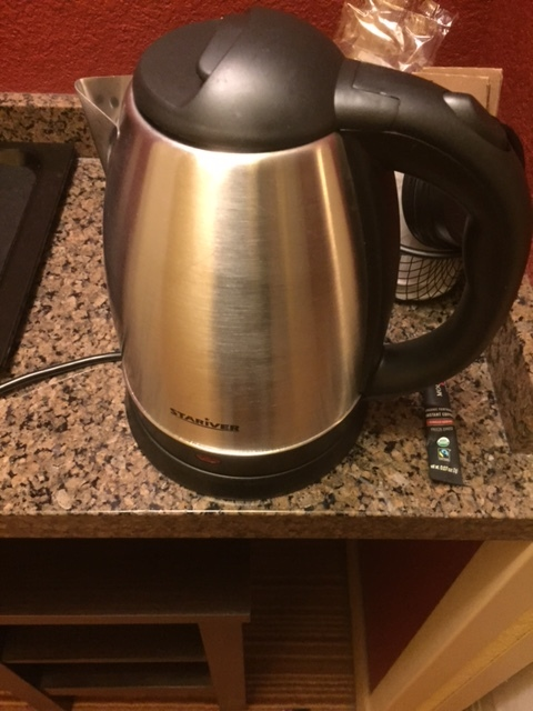 My kettle to heat water up. Let me tell you, it is fast.