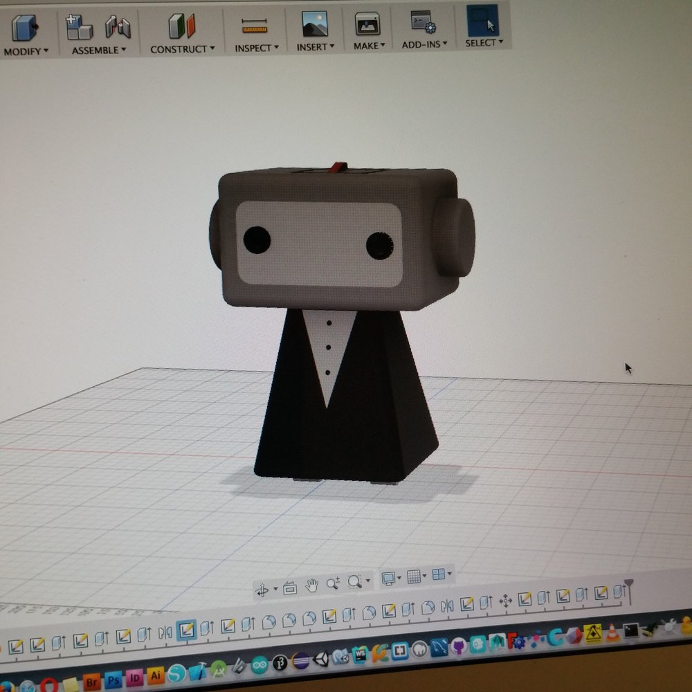 Full sized digital mockup in Autodesk Fusion 360.