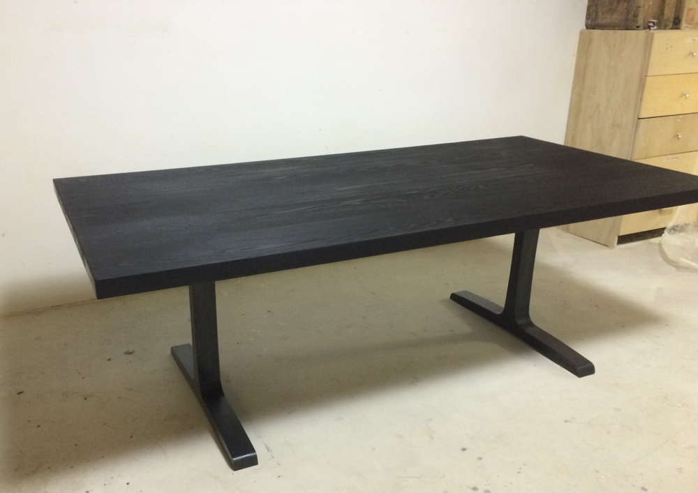 Charred Ash Wood Dining Room Table Hohl Home Furnishings
