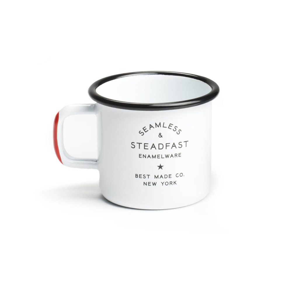 ENAMELWARE CUP: $32 (set of 2) PERFECT FOR: Your friend that loves camping and also everyone else. Enamelware steel, also comes in Teal. Best Made Co.
