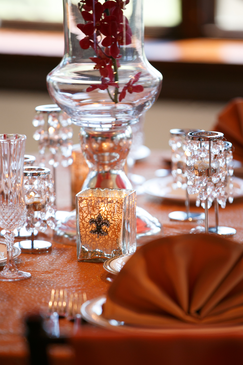 Marsala and Copper Wedding Decor | Navjot Design | Couture Wedding Designer and Florist in Dallas | SYPhotography