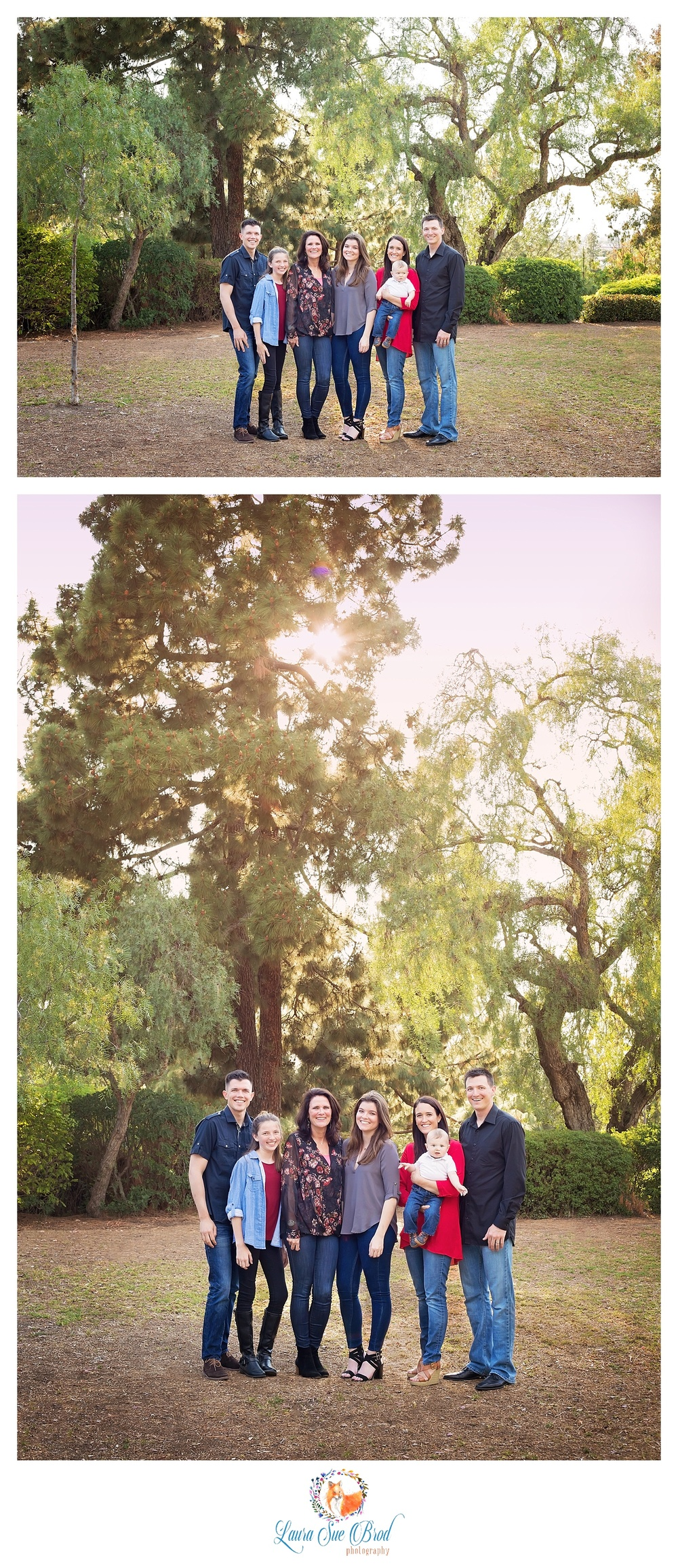 Family portraits. The McNamara Family. Family session at park during golden hour in Costa Mesa, California. Laura Sue Brod Photography - 2016  www.laurasuebrod.com
