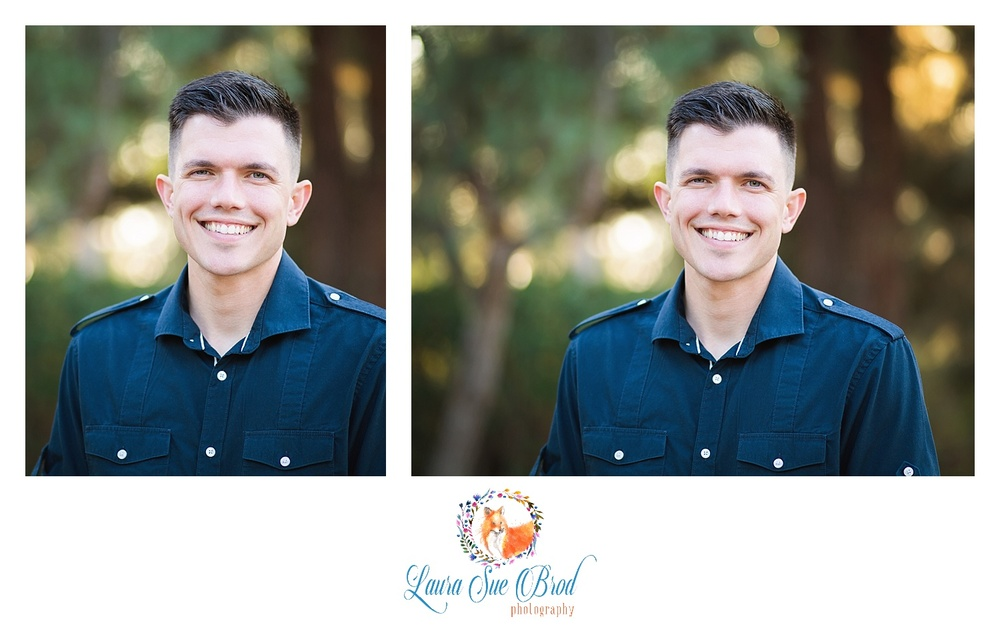 Portraits - headshot.   The McNamara Family. Family session at park during golden hour in Costa Mesa, California. Laura Sue Brod Photography - 2016  www.laurasuebrod.com