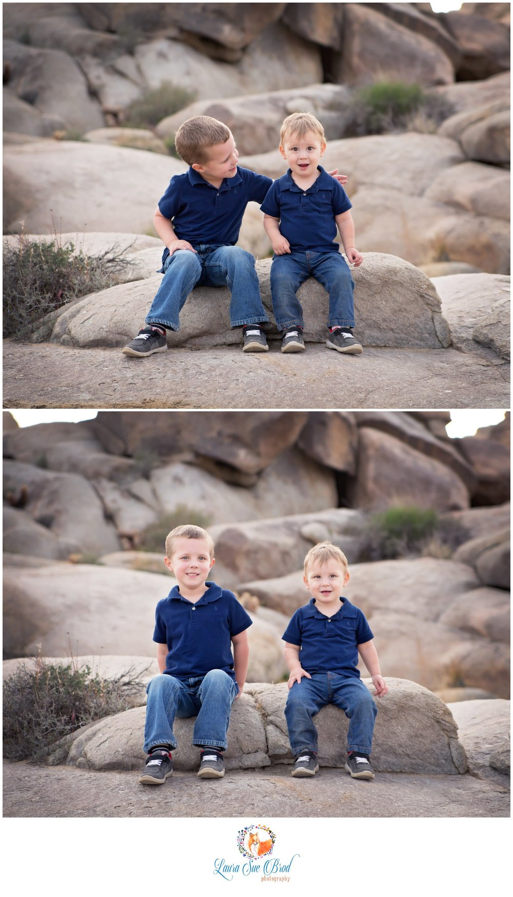Brothers, portraits in Joshua Tree.    Laura Sue Brod Photography - 2016  www.laurasuebrod.com