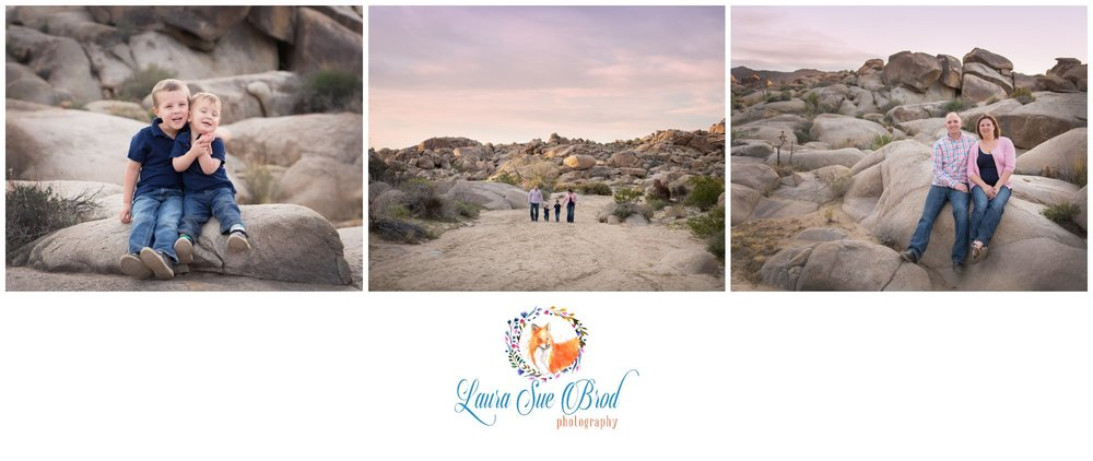 Family session in Joshua Tree.    Laura Sue Brod Photography - 2016  www.laurasuebrod.com