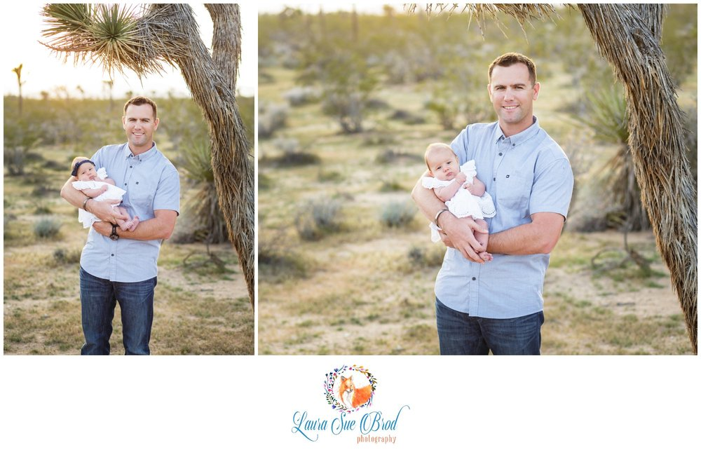 Family session at golden hour in Joshua Tree.    Laura Sue Brod Photography - 2016  www.laurasuebrod.com