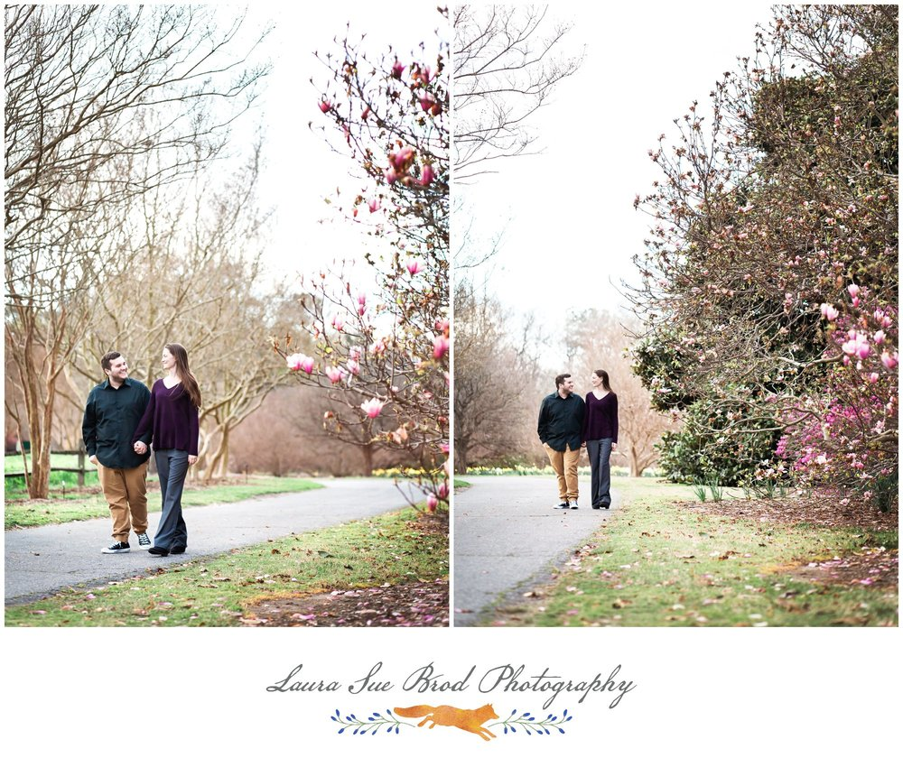Engagement Session at Norfolk Botanical Gardens, Norfolk, Virginia.  Copyright 2017 - Laura Sue Brod Photography  www.laurasuebrod.com
