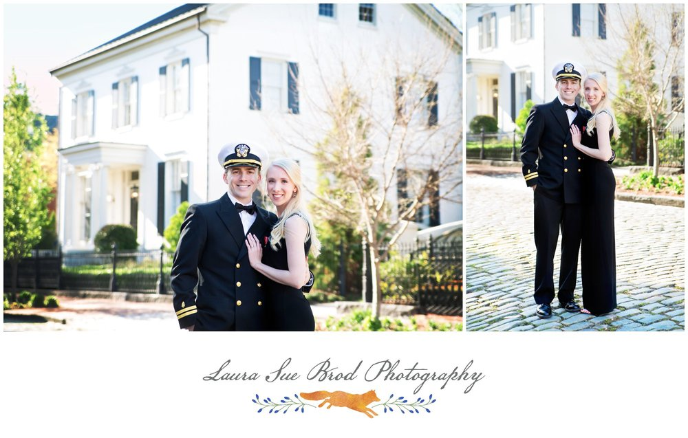 Military Couples Session in Norfolk, Virginia's Freemason District.  Copyright 2017 - Laura Sue Brod Photography  www.laurasuebrod.com
