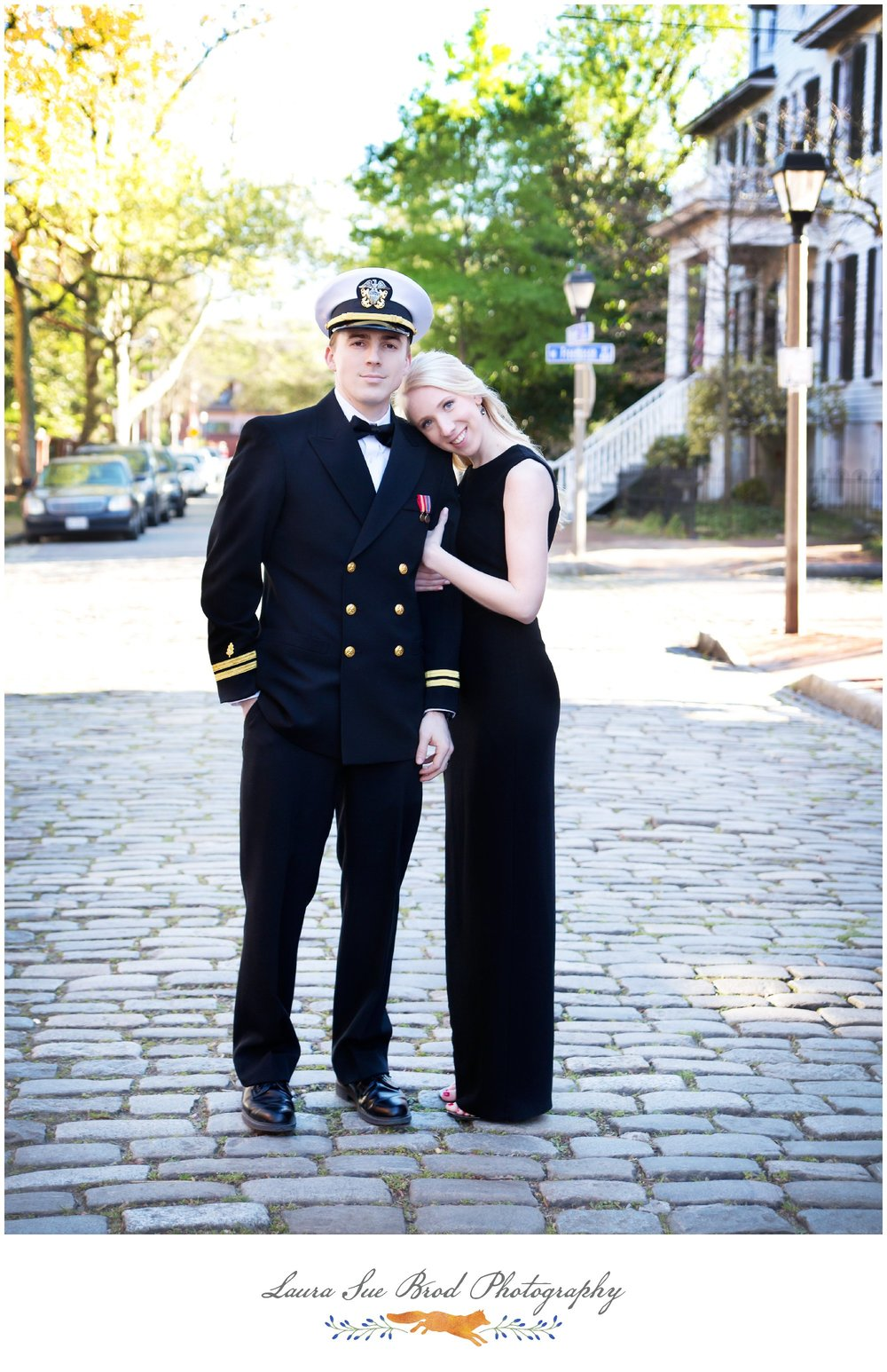 Military Couples Sessionin Norfolk, Virginia's Freemason District.  Copyright 2017 - Laura Sue Brod Photography  www.laurasuebrod.com