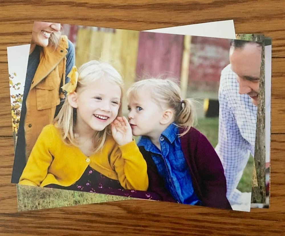 Keeping small prints handy allows you to easily grab and show off your memories when people stop by your place! You can even organize them in cute little bins or books so they don't get mixed up with another event.    2017 Laura Sue Brod Photography     www.laurasuebrod.com