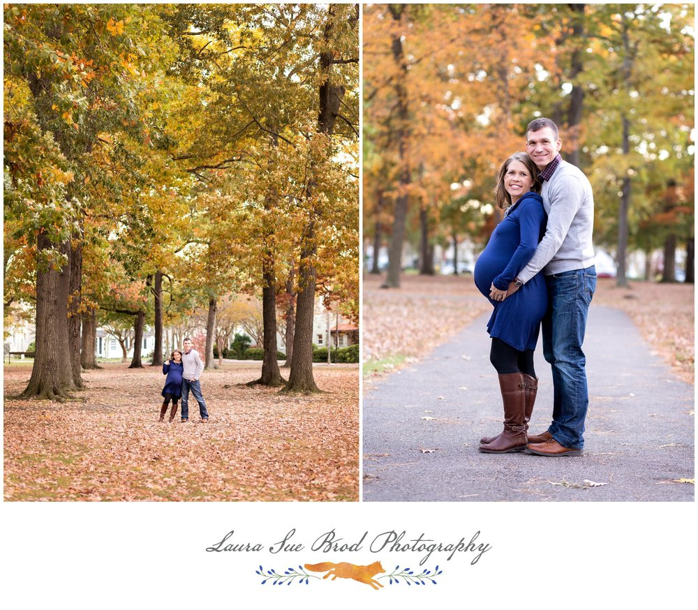 The Hoag Family: Norfolk, VA Maternity Session in the woods    © 2017 Laura Sue Brod Photography  www.laurasuebrod.com