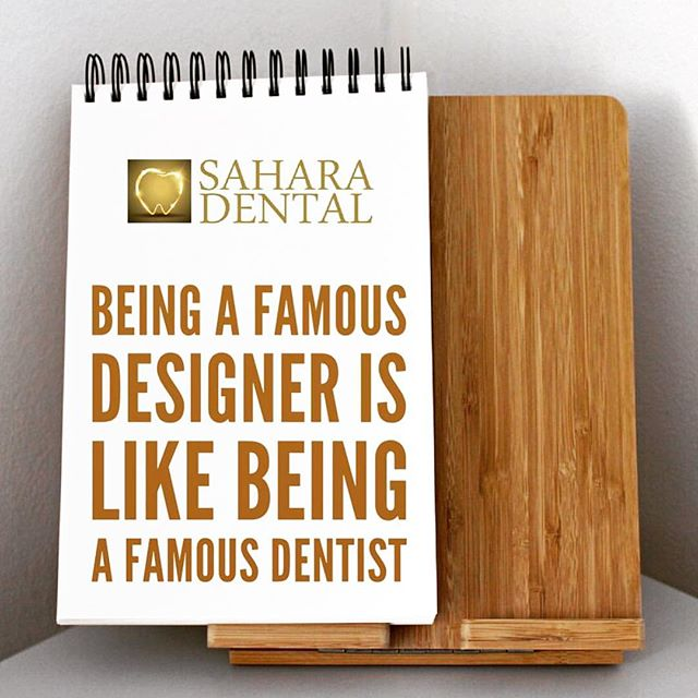 Being a famous designer is like being a famous dentist -Noreen Morioka. For inquiries, call/text us TODAY (857) 218-8222 ______________________________ #Boston #design #dentaloffice #dentalcare #teeth #tooth #extraction #oralsurgery #dental #dentist #dentistry #emergency #people #botox #smile #art #smilemore #implant #qoute #braces #invisalign