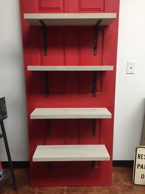 Reclaimed Door Shelving Project With MMSMP