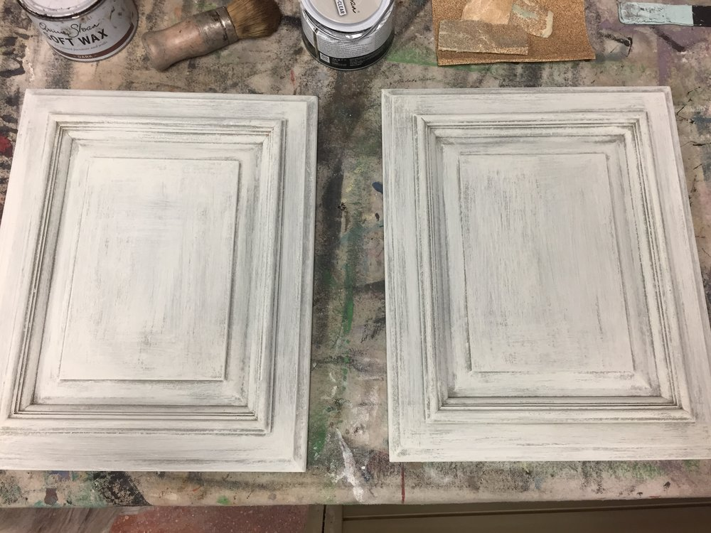 painted cabinet samples - Cabinet Rehab (With Chalk Paint® by Annie Sloan)