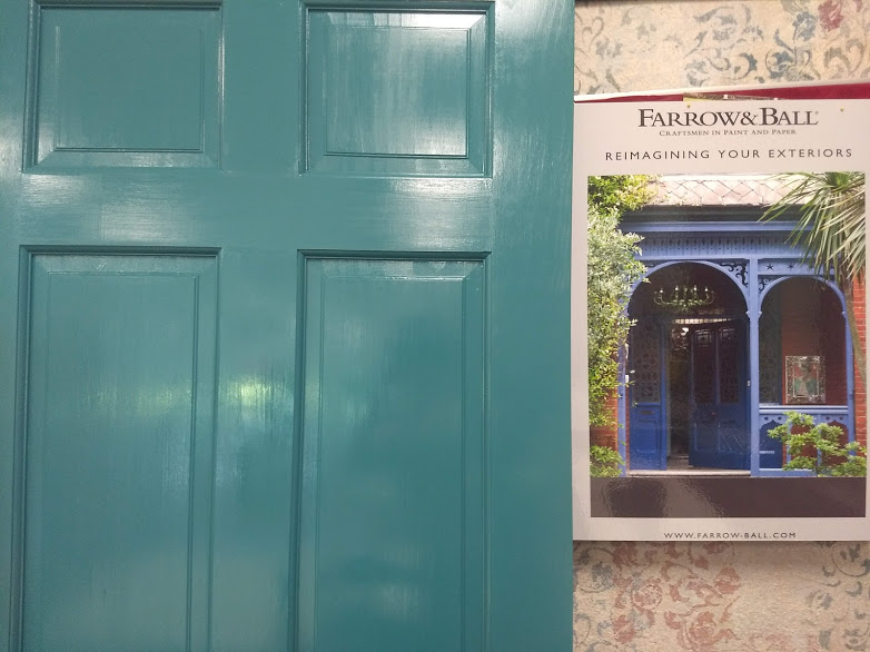 How To Paint Your Front Door With Farrow Ball Silk And Sage