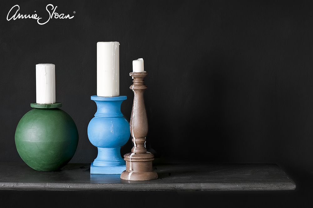 Candle bases in Amsterdam Green, Giverny, Honfleur, Wall Paint in Graphite image 2.jpg