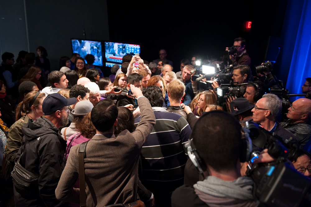 Garret Sparks was mobbed by the media as he left the Air Canada Centre last night. Source