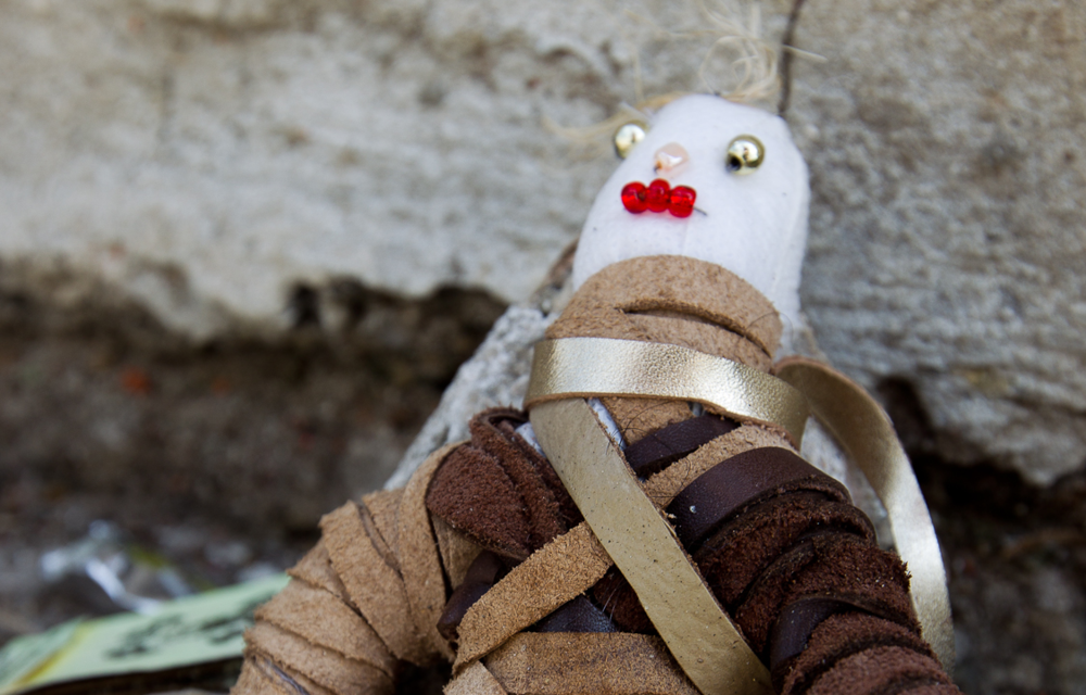 File photo of the voodoo doll that couture threw out. Source.