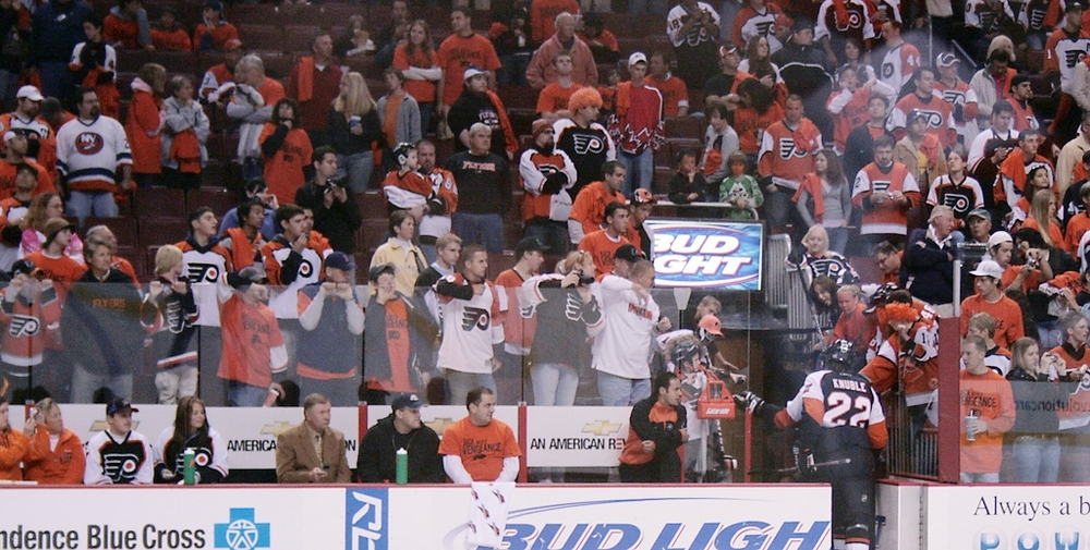 A recent study calls into question the intellectual development of Flyers fans.  Source