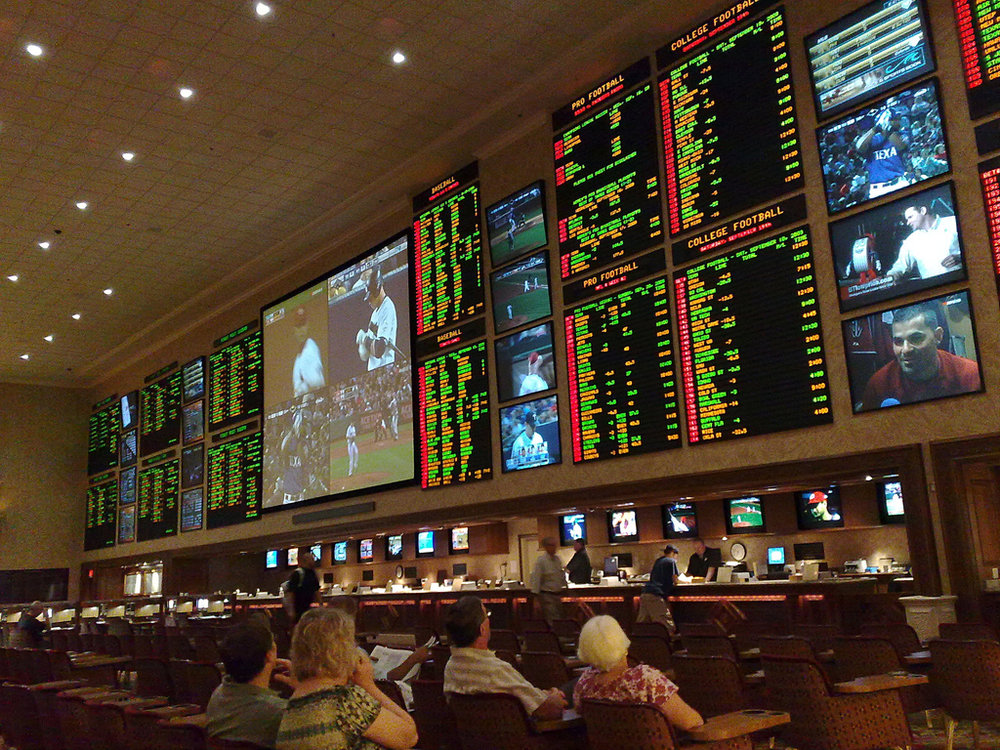 Betting odds on display at one of Vegas' largest agencies Source