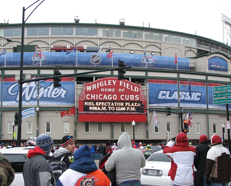 Wrigley Field will be the home of the 2018 Winter Classic. Source