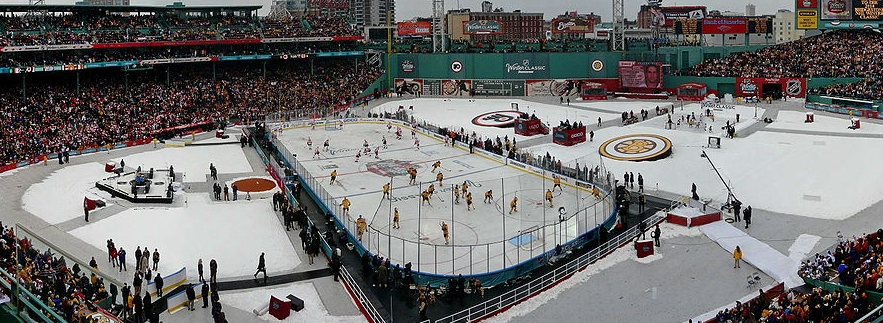 The Burns family sat in the back row at the 2010 Winter Classic, saying their favourite part was when the wind chill dipped to -20.  Source