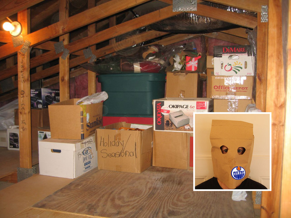 The attic where an Oilers fan was reunited with his favourite paper bag. Image sources:  Roger Mommaerts  &  Frank C. Muller