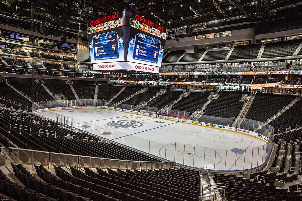The Oilers expect Rogers Place to be sold out for this year's draft lottery. Image source:  IQremix