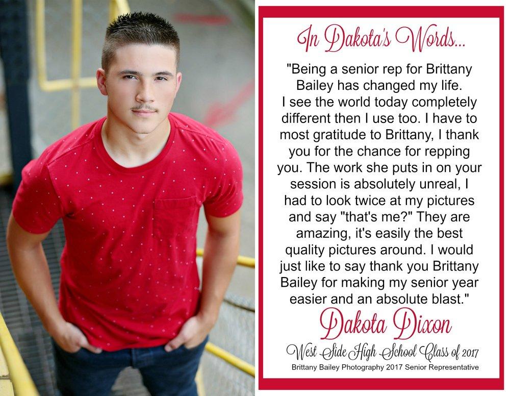 Dakota Dixon - West Side High School Class of 2017 Senior
