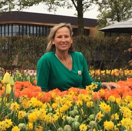 Holly Griesse Shai chairs the Granville Daffodil Stroll this year and as you can see, she loves flowers, especially Daffodils!