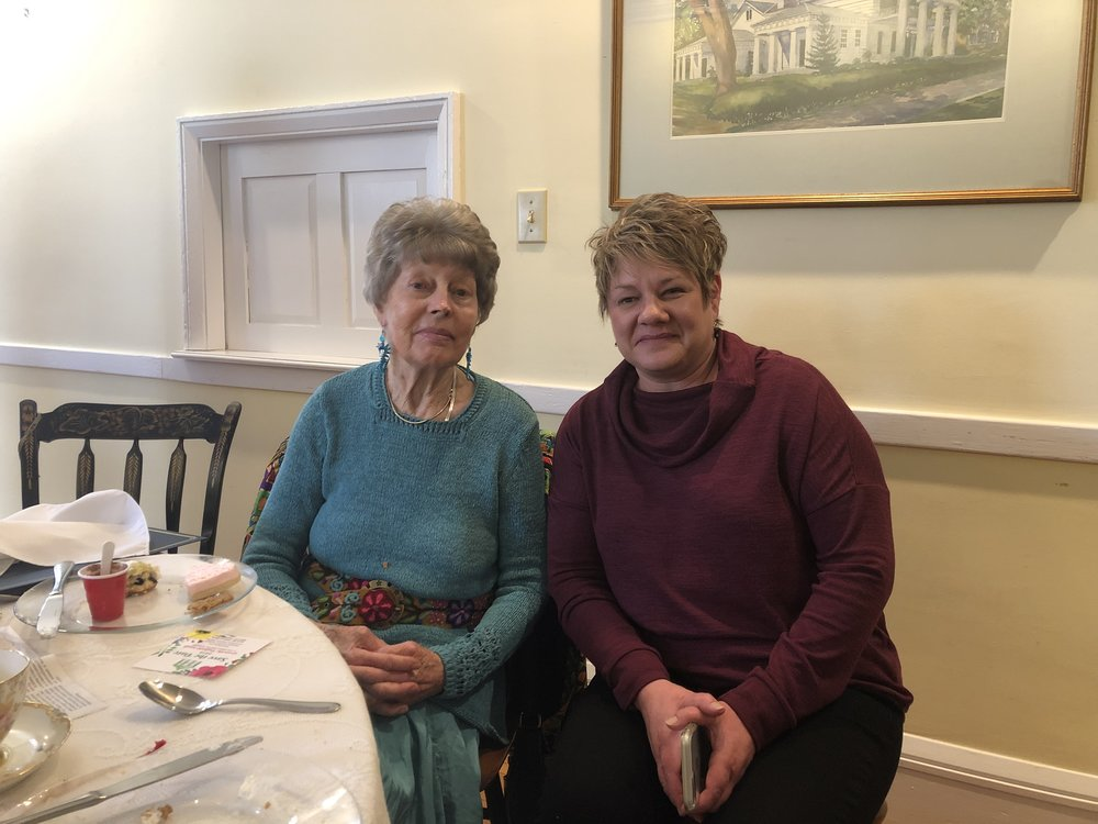 Tricia Hufford, Director of Domestic Violence Services at New Beginnings, Newark, OH., attended the luncheon to honor Flo.