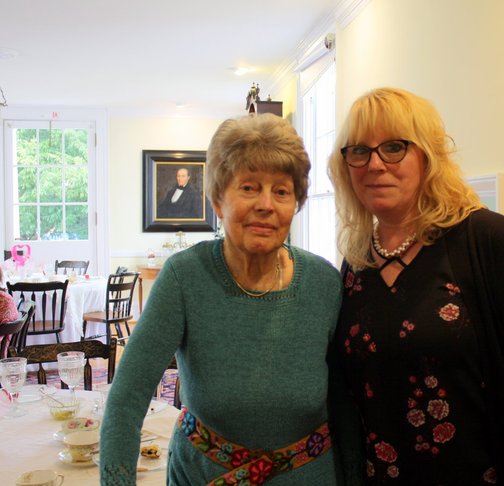 Cindy Palumbo attended to recognize the accomplishments of friend Flo Gibson.
